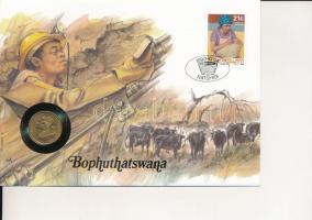 Botswana benne Dél-Afrika 1990. 2c Br felbélyegzett borítékban, bélyegzéssel T:1- Botswana with South Africa 1990. 2 Cents Br in envelope with stamp and cancellation C:AU patina