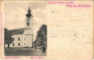 1901 Felsőlövő, Oberschützen; Evangélikus templom / Kirche / church
