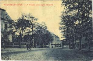1911 Nagybecskerek, Zrenjanin, Veliki Beckerek; Váralja utca egyik részlete. Schneider János kiadása, W.L. (?) / street