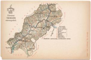 Trencsén vármegye térképe. Kiadja Károlyi Gy. / Map of Trencín county (EM)