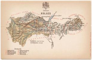 Kolozs vármegye térképe. Kiadja Károlyi Gy. / Map of Cluj county
