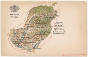 Maros-Torda vármegye térképe. Kiadja Károlyi Gy. / Map of Caras-Severin county (EM)