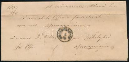 1860 Ex offo levél GROSSWARDEIN - Asszonyvására