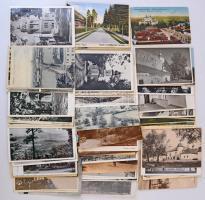 98 db RÉGI történelmi magyar és más külföldi város képeslap vegyes minőségben / 98 pre-1945 historical Hungarian and other European town-view postcards