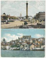 23 db RÉGI külföldi város képeslap vegyes minőségben / 23 pre-1945 European town-view postcards