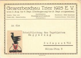 1949 Gewerbeschau Trier 1925 E. V. vom 2. Aug. bis 6. Sept / Trier Trade Show advertisement (EK)