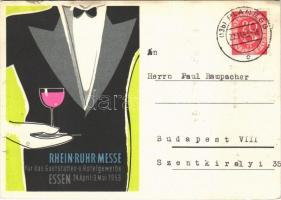 Rhein-Ruhr Messe für das Gastätten und Hotelgewerbe Essen 24. April - 3. Mai 1953 / Rhein-Ruhr Catering and Hotel Industry Fair advertisement (EB)