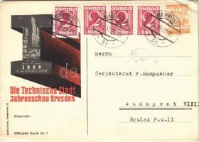 Die Technische Stadt 7. Ausstellung, Jahresschau Dresden Mai - Okt. 1928 / Dresden Exhibition advertisement (EB)