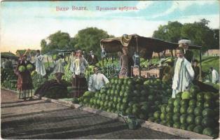 Volga, Russian folklore, watermelon sellers