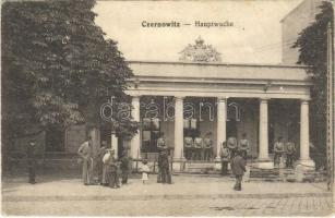1916 Chernivtsi, Czernowitz, Cernauti, Csernyivci; Hauptwache / WWI Austro-Hungarian K.u.K. military, main guardhouse with guards. Verlag Moritz Gottlieb (EK)