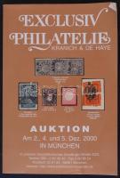 2000 Kranich& De Haye-Exclusiv Philatelie Auktion in München (used)/2000 Müncheni filatéliai árverési katalógus,viseltes állapotban