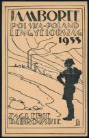 1933 Lengyelországi Jamboree képeslap, készült a dabrowa górniczai első csoport nyomdájában / Jamboree Poland postcard, printed by the 1st Boy Scouts troop of Dabrowa Górnicza