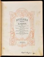Kottagyűjtemény. Benne Bertini, Kuhlau, Duvrenoy, Edvard Grieg,..stb. Lepizig,én.,C.F. Peters-Breitkopf&Hätel. Kopott félvászon-kötésben.
