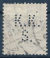 Fekete számú krajcáros K.K.S. perfin (Lente 100 p)