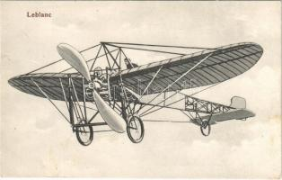 Alfred Leblanc, pioneer French aviator and his aircraft