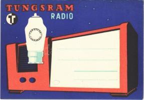 Tungsram Radio rádiócső (elektroncső) reklámja / Hungarian radio tube (vacuum tube) advertisement