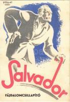 1941 Salvador fájdalomcsillapító tabletta reklámja. Szántó Sándor gyógyszervegyészeti laboratóriuma / Hungarian medicine advertisement, painkiller s: Gebhardt (EK)