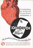 1948 A miokardium és koszorús érrendszer gyógyszere a Corhormon. Gyártja és forgalomba hozza a Magyar Gyógyszer R.T. / Hungarian medicine advertisement (EK)