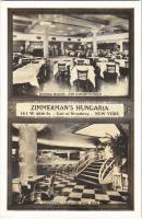 New York, Zimmermans Hungaria restaurant, dining room, cocktail lounge and bar (EK)