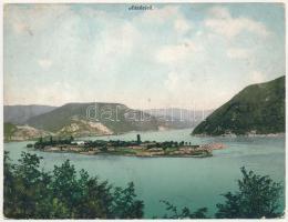 Ada Kaleh, Török sziget Orsova alatt. Hutterer G. kiadása. Hajtatlan panorámalap / Turkish island. Unfolded panoramacard (EB)