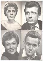 7 db MODERN nagy méretű motívum képeslap: cseh színészek / 7 modern big-sized motive postcards: Czech actors