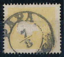 1858 2kr II. tipus sárga PÁPA