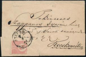 1871 Kőnyomat 5kr távolsági levélen SZEGED - Kecskemét