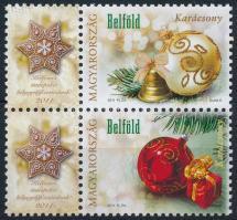 2011 Karácsonyi bélyegem megszemélyesített ajándék pár a bélyegelőfizetőknek (4.000)