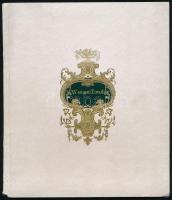 cca 1880-1900 Wenczel Tivadar diák kézzel írt füzete, különbőző feldatokkal és azok megoldásaival, 24 l., illusztrált, aranyozott névre szóló vászonkötésben, kissé sérült gerinccel, 19,5x17 cm