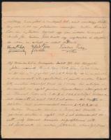 cca 1897-1899 Vadászati-erdészeti jegyzőkönyvek közgyűlésekről, Bp., kézzel írt füzet, 20 sztl. oldal, hiányos