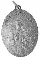 1914-1915. Óvd meg őt kétoldalas fém medál (22x32mm) T:2- 1914-1915. Protect him - two-sided metal medallion (22x32mm) C:VF
