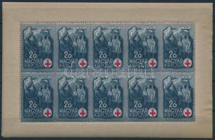 1942 Vöröskereszt I. teljes ívsor (20.000) (20+1P gumihiba, apró rozsdafolt / gum disturbance, tiny stain spot)