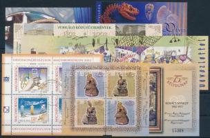 2000-2002 87 db klf. bélyeg, közte 11 teljes sor + 15 klf blokk (34.095)