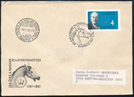 1987 200 éves a magyar állatorvosképzés vágott bélyeg FDC-n