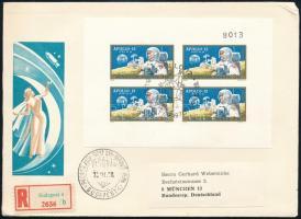 1970 Apollo 12 vágott blokk FDC-n (4.000)
