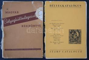 Magyar bélyegkülönlegességek kézikönyve (1956) + Madarász Gyula: Bélyegkatalógus (angol és magyar nyelvű), hiányos. Mindkettő sérült borítóval.
