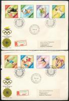 1972 Olimpia (VI.) - München vágott sor 2 db FDC-n (4.000)
