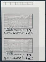 1991 Telecom I. ívsarki vágott pár, ívszéli jelzéssel (5.000)