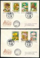 1984 Gombák I. - Ehető vágott sor 2 db FDC-n (6.000)