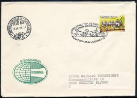 1984 Fogathajtó VB I. vágott bélyeg FDC-n
