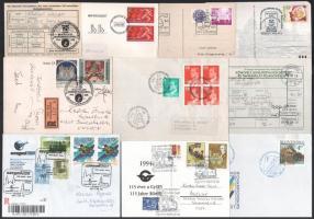 53 db küldemény alkalmi bélyegzésekkel