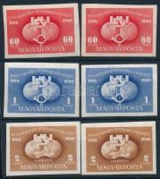 1949 UPU I. 2 db vágott sor (5.000)