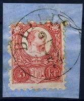 1871 Réznyomat 5kr / Mi 10 BELLUS
