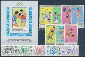 1988 Mongólia, Törökország Nyári Olimpia, Szöul 2 sor + blokk