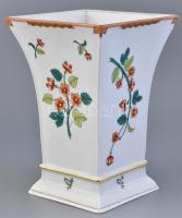 Herendi (wbos) Windsor Branch mintás váza. Kézzel festett porcelán. Apró kopásokkal. Jelzett. m:25cm