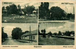 Galgahévíz, Hősök szobra, katolikus templom, leventeotthon, Alvég (Rb)