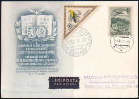 1953 MABÉOSZ légiposta Budapest-Csehszlovákia emléklap