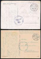 4 db II. világháborús Német tábori postán küldött képeslap