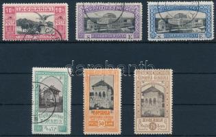 Románia 1906 6 érték a Hivatalos kiállítási sorból (~Mi EUR 360.-)
