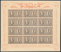 Svájc 1943 100 éves a bélyeg blokk Mi 9 (Mi EUR 110.-) (pudernyomok / powder remainders)